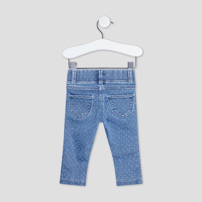Jeans slim taille élastiquée bébé fille denim double stone