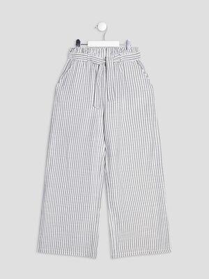 Pantalon ample ceinture ecru fille