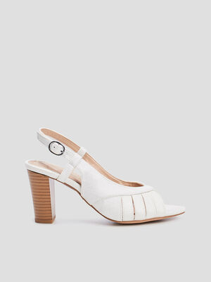 Sandales a talons blanc femme