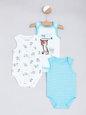 Sous vetement Lingerie bebe bleu bebe