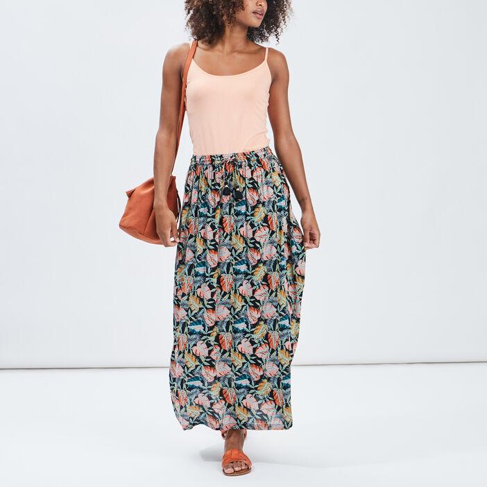 Jupe longue évasée femme multicolore