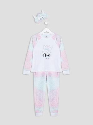 Ensemble pyjama 3 pieces multicolore fille