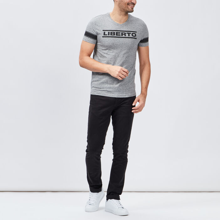 T-shirt Liberto homme gris