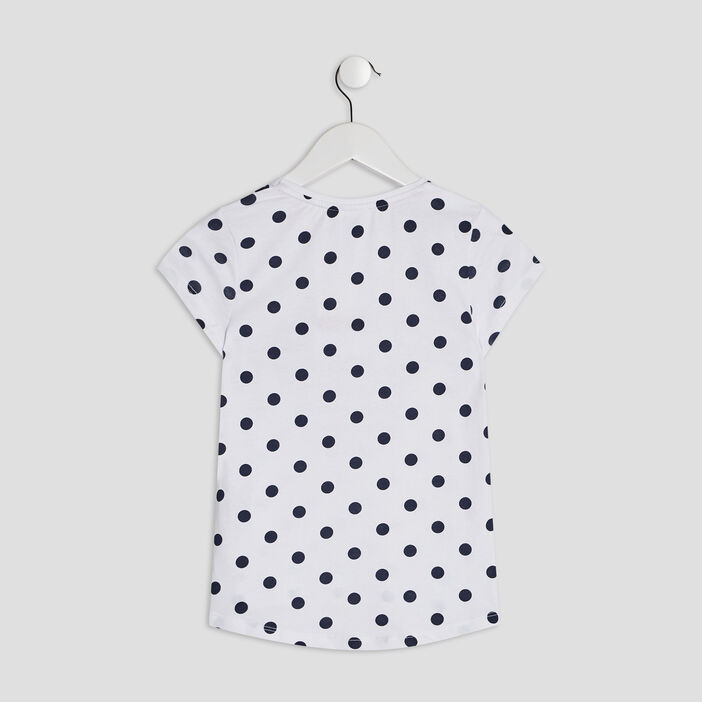 T-shirt manches courtes Minnie fille blanc