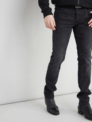Jean slim 5 poches noir homme