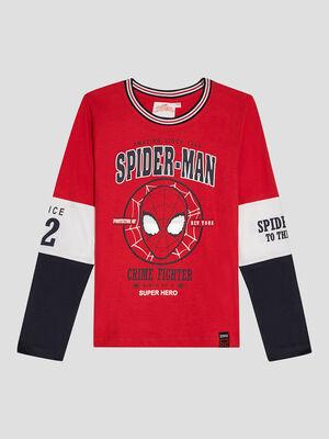 T shirt Spider Man rouge garcon