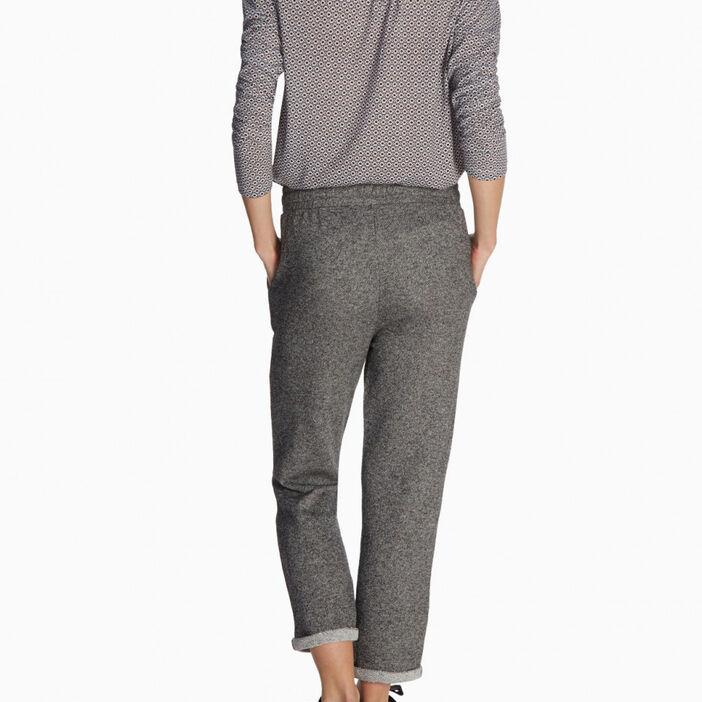 Pantalon à revers esprit jogging femme gris