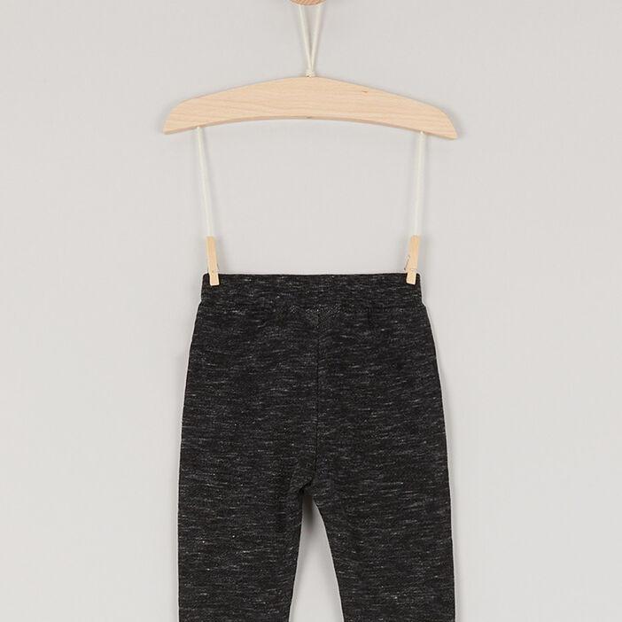 Pantalon uni en maille garçon gris foncé