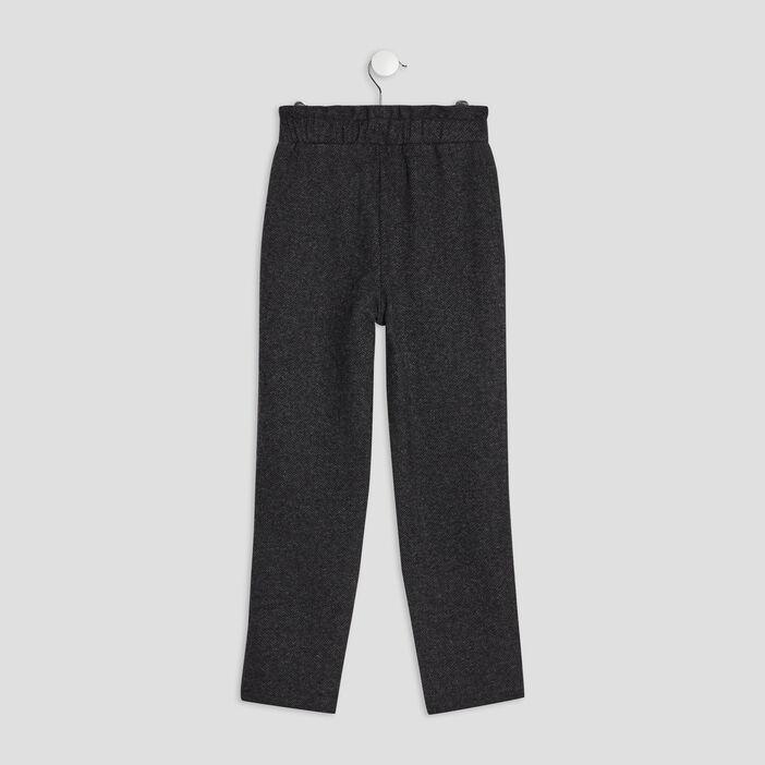 Pantalon jogging droit fille gris foncé