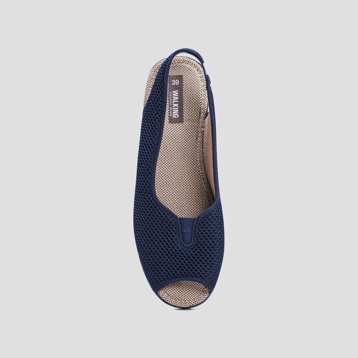 Sandales à bride élastiquée femme bleu marine