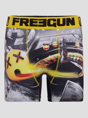 Boxer Freegun jaune homme