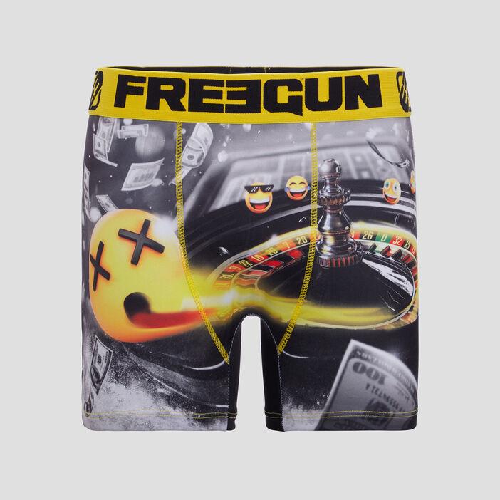 Boxer Freegun homme jaune