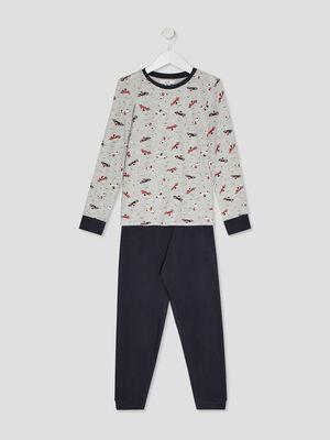 Pyjama imprime bleu marine garco
