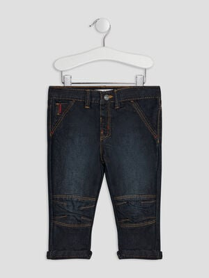 Jeans straight Creeks denim brut bebeg