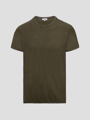 T shirt Trappeur vert kaki homme