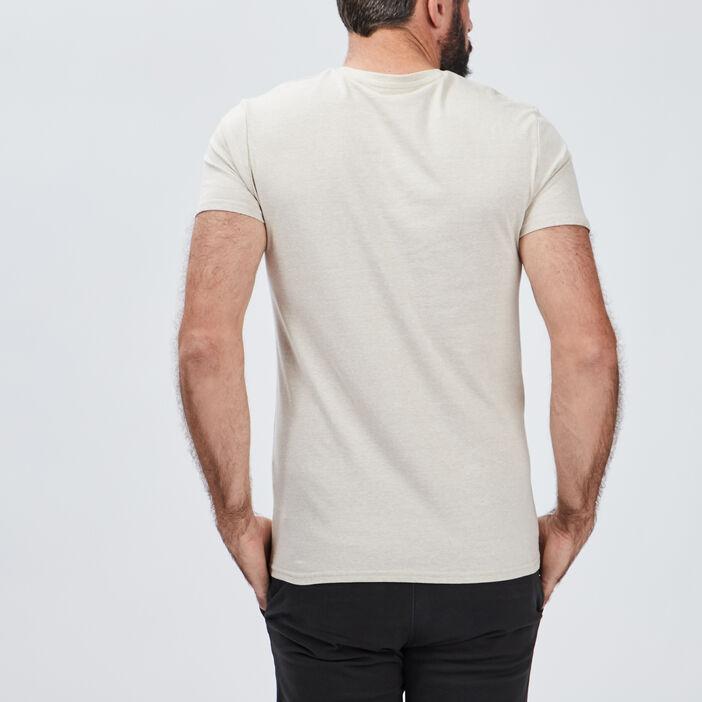 T-shirt manches courtes homme beige