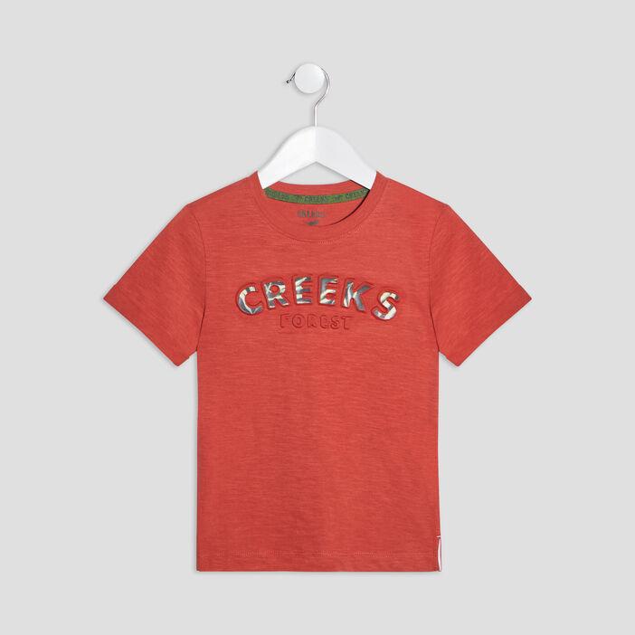 T-shirt manches courtes Creeks garçon orange foncé