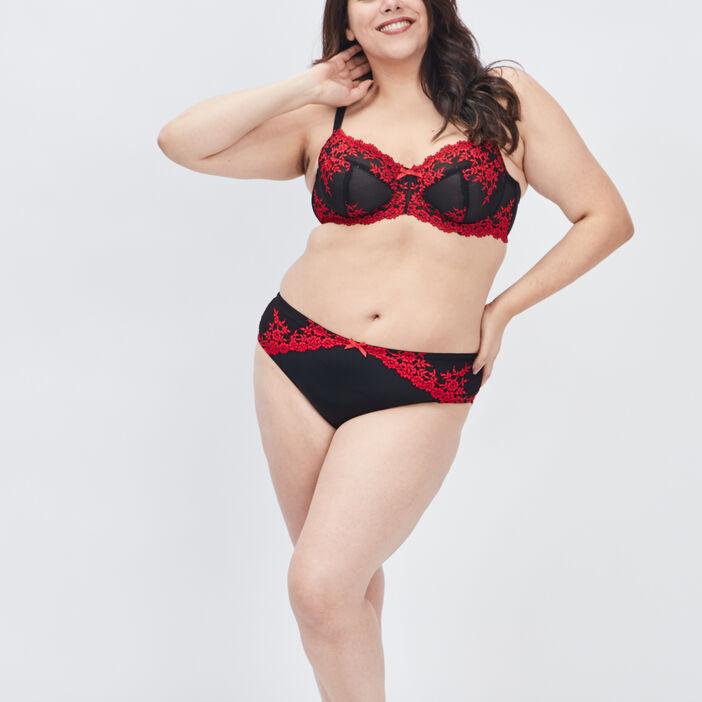 Soutien-gorge corbeille femme grande taille rouge