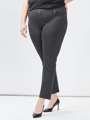 Pantalon droit grande taille gris fonce femmegt