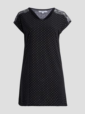 Chemise de nuit grande taille noir femmegt