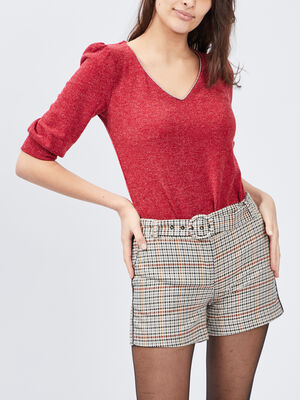 Pull manches 34 rouge femme
