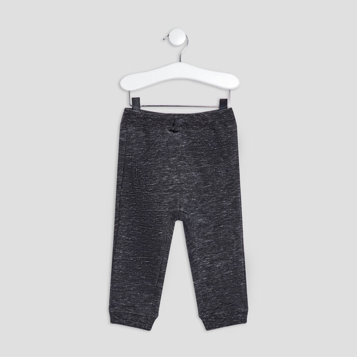 Pantalon jogging droit bébé garçon gris fonce