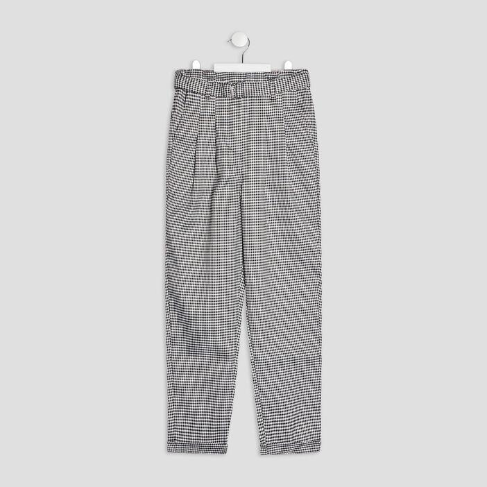 Pantalon droit ceinturé fille ecru