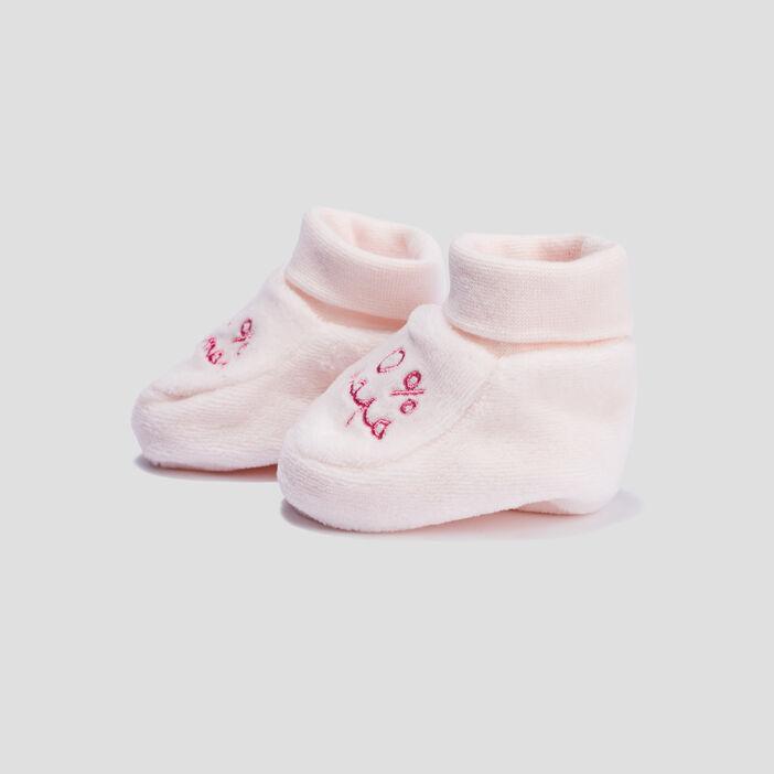 Chaussettes d'intérieur bébé fille rose clair