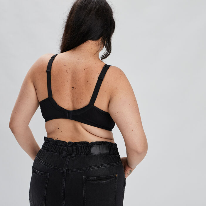 Soutien-gorge foulard femme grande taille noir
