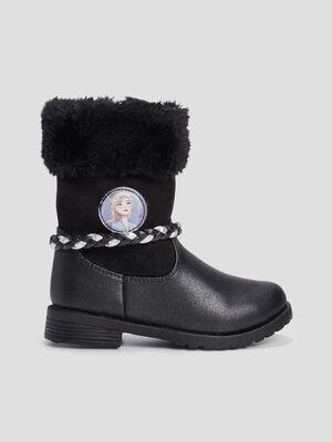 Bottes Reine des neiges noir fille