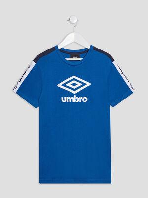 T shirt manches courtes Umbro bleu garcon