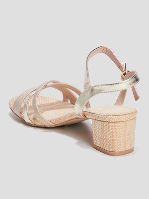 Sandales a talons couleur or femme