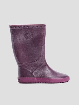 Bottes de pluie pailletees violet fille