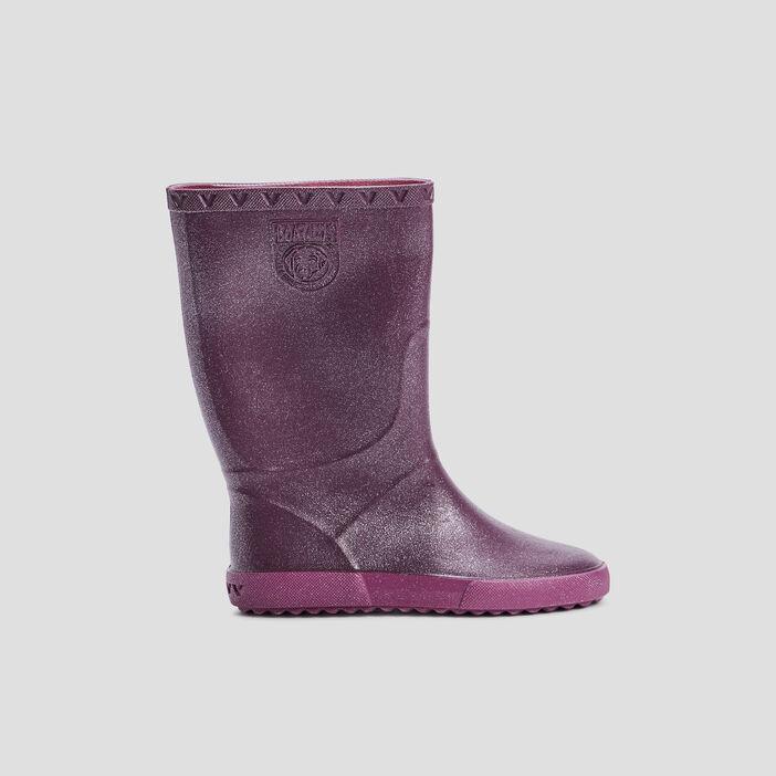 Bottes de pluie pailletées fille violet