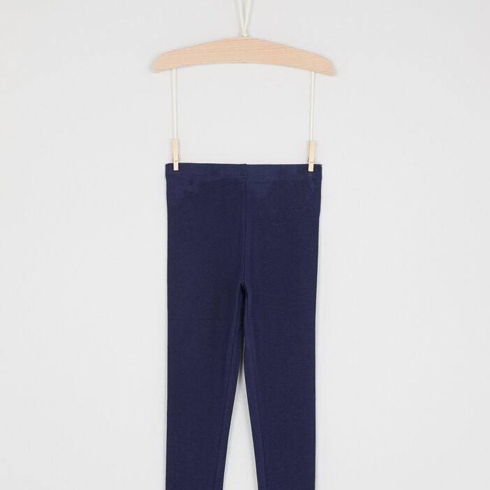 Pantalon legging fille bleu marine