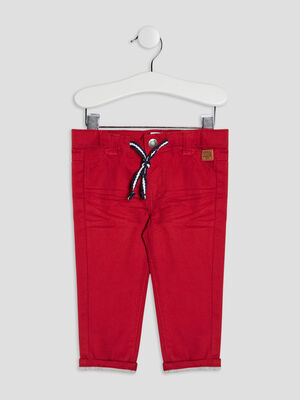 Pantalon droit Creeks rouge bebeg