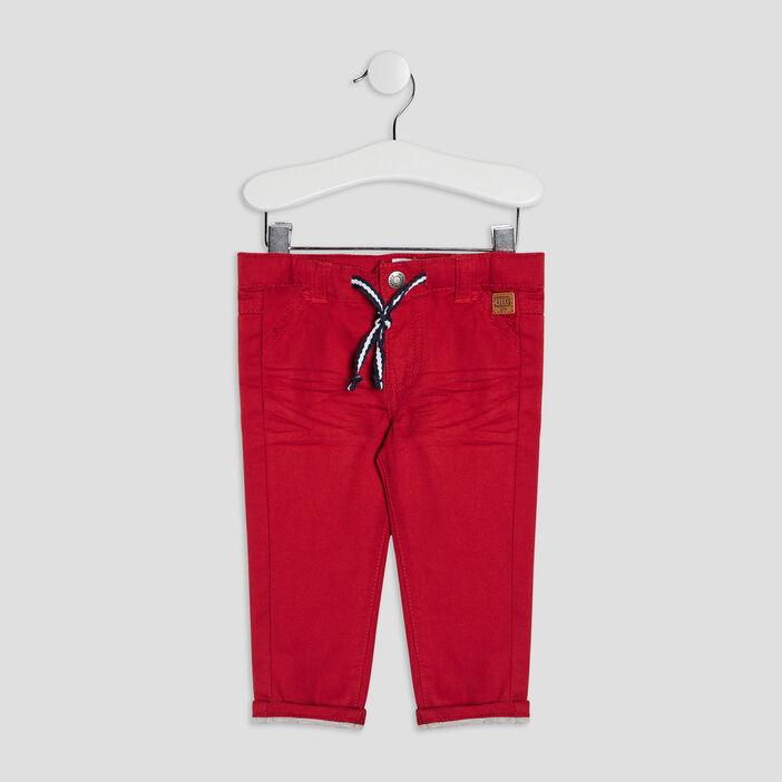 Pantalon droit Creeks bébé garçon rouge