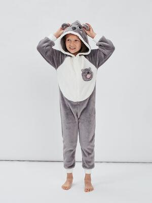 Combinaison pyjama gris fille