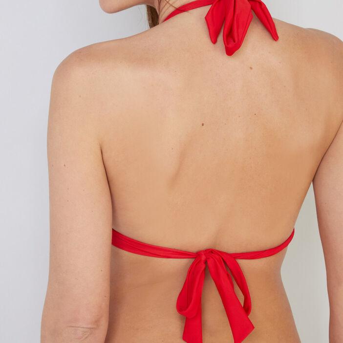 haut de maillot triangle coque CANNOU femme rouge