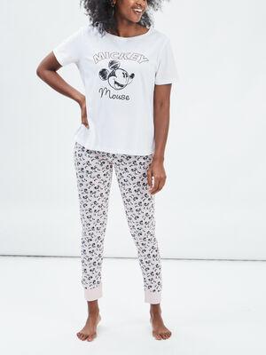 Ensemble pyjama Mickey rose poudree femme