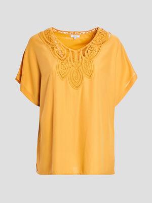 Tunique sans manches grande taille jaune moutarde femmegt