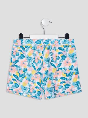 Lot 2 shorts droits orange corail fille