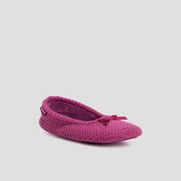 Chaussons ballerines Isotoner femme rose