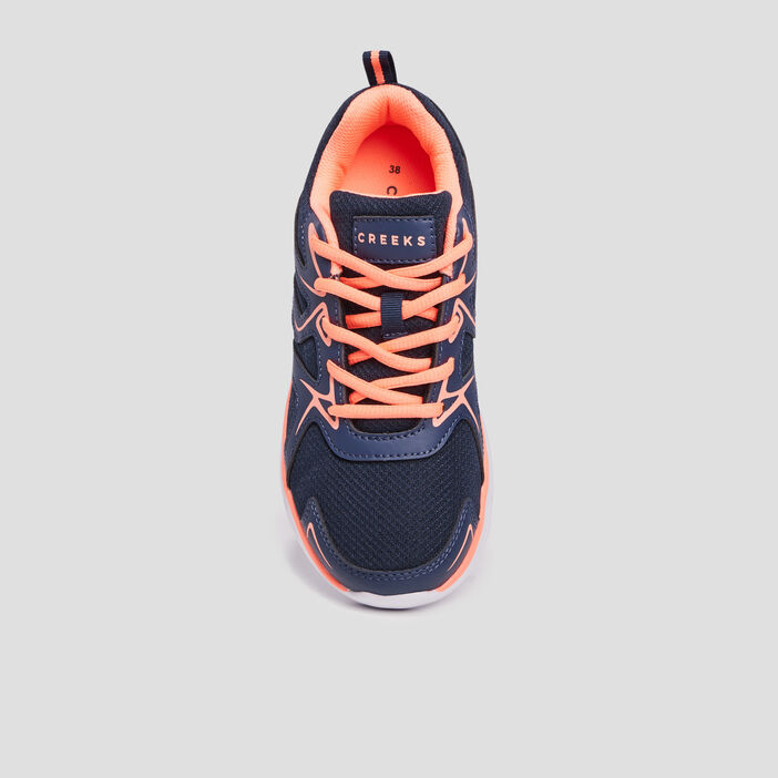 Baskets running Creeks fille bleu