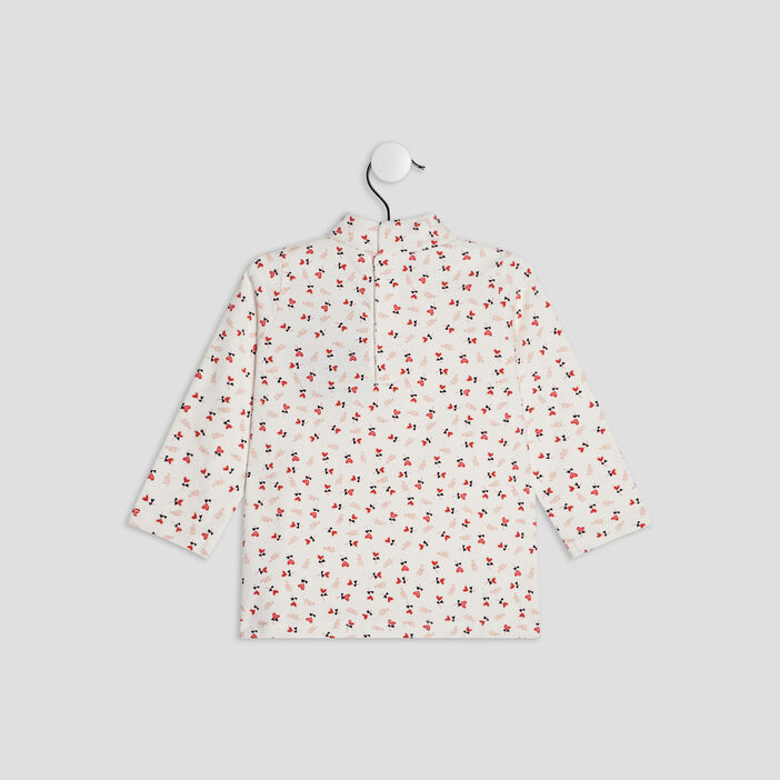 T-shirt manches courtes bébé fille ecru