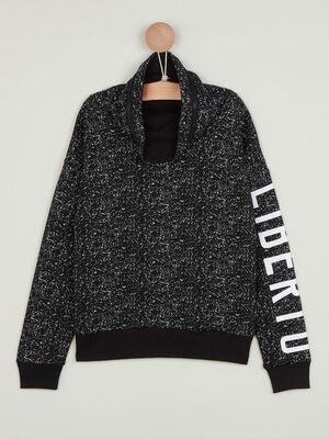 Sweatshirt avec zip a lencolure noir garcon