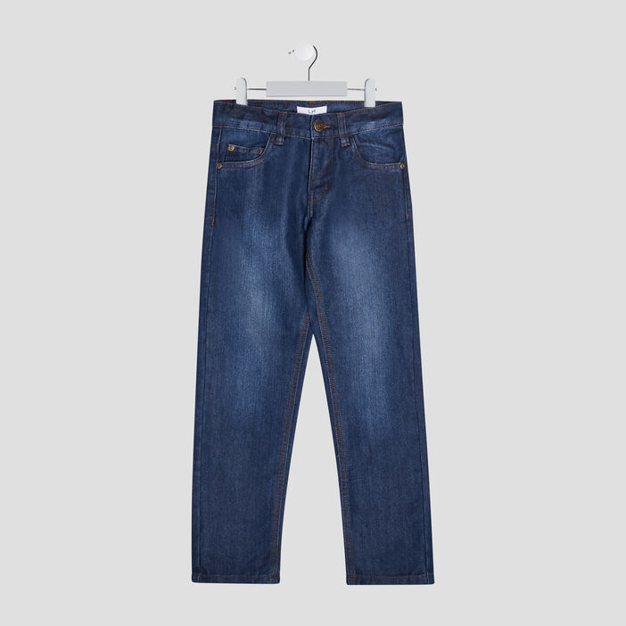Jeans regular effet délavé garçon denim stone
