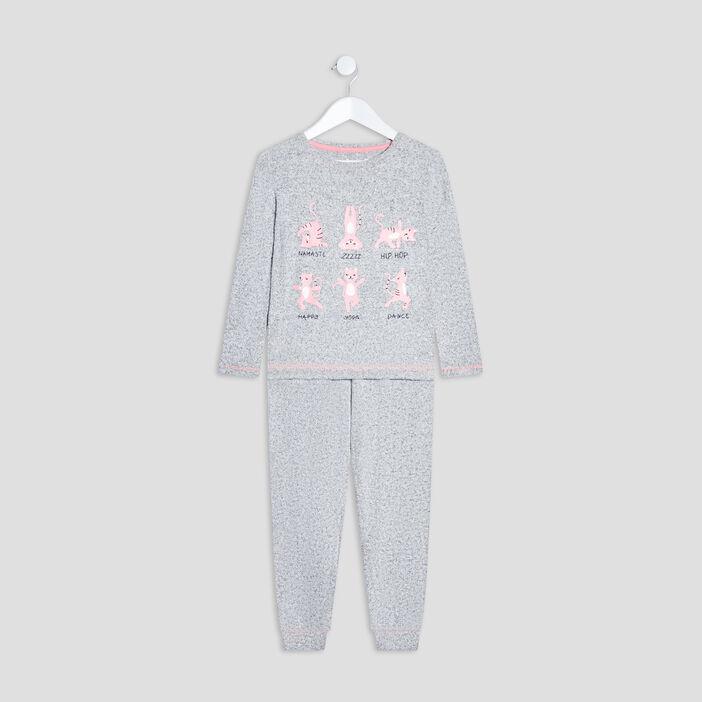 Ensemble pyjama fille gris