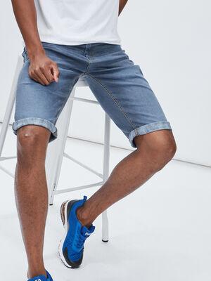 Bermuda droit en jean Creeks bleu gris homme