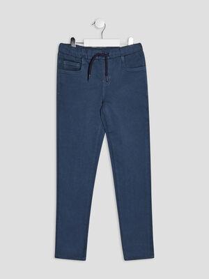 Pantalon jegging a coulisse bleu gris garcon